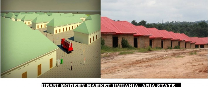 UBANI MODERN MARKET UNDER CONSTRUCTION IN UMUAHIA. ABIA STATE