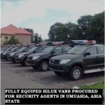 FULLY EQUIPED HILUX VANS PROCURED FOR SECURITY AGENTS IN UMUAHIA, ABIA STATE (2)
