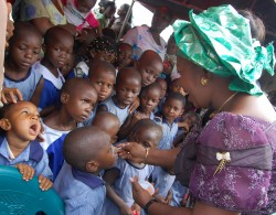 Her Excellency, Chief (Mrs.) Mercy Odochi Orji on her personal care for Abia state pupils