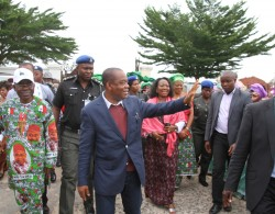 H.E. T.A Orji on arrival from Canada recently