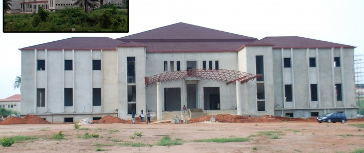 INT'L CONFERENCE CENTER UMUAHIA, NEARING COMPLETION