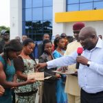 10 WIDOWS IN THE ABIA STATE CIVIL SERVICE RECEIVE BRAND NEW HOUSES FROM GOVERNOR IKPEAZU.
