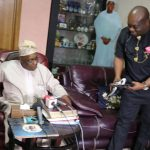 Former President Obasanjo receives made in Aba shoes from Governor Okezie Ikpeazu