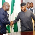 Governor Okezie Ikpeazu visits the Acting President, Professor Yemi Osibanjo