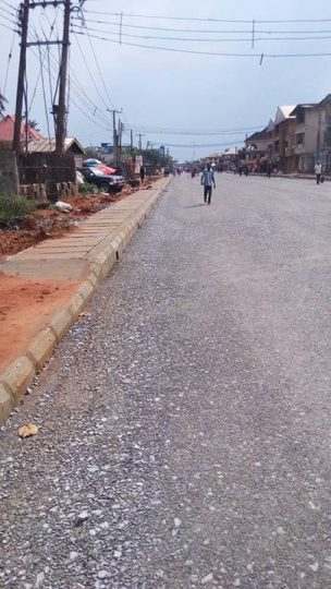 FAULKS ROAD ONGOING... This is where we are now... Brass Junction by Okigwe Road Junction segment of the road.  Note: Governor Okezie Ikpeazu is behind the reconstruction of this federal road and many more. Credit: Onyebuchi Ememanka